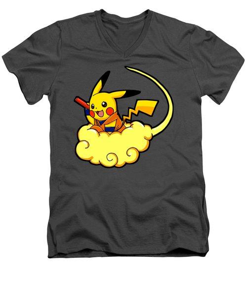 Pikagoku Men's V-Neck T-Shirt