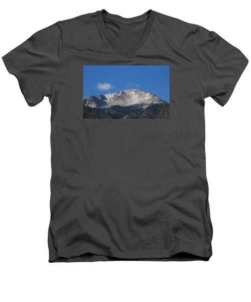 Pikes Peak Men's V-Neck T-Shirt by Christopher Kirby