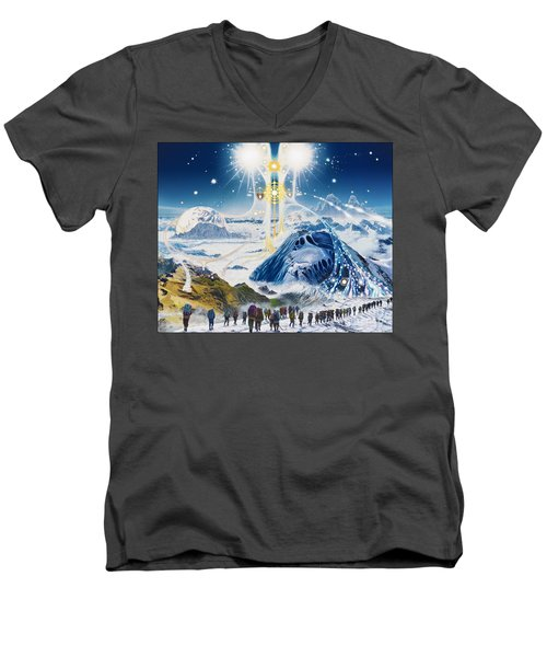 Pilgrimage Of The Lunatics Men's V-Neck T-Shirt