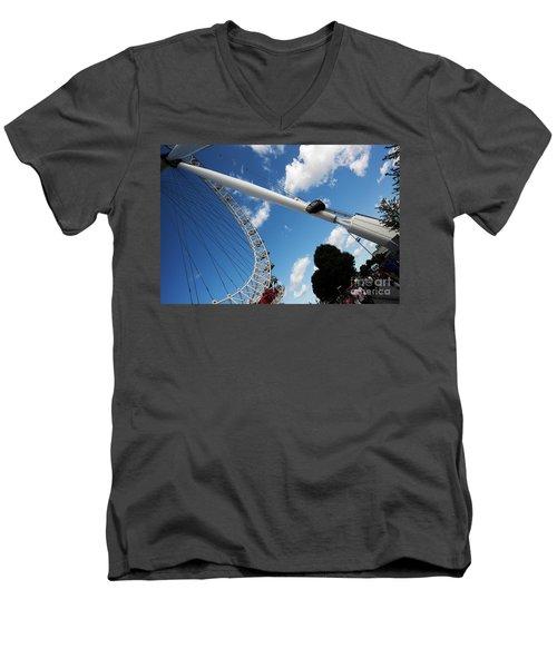 Pillar Of London S Ferris Wheel  Men's V-Neck T-Shirt