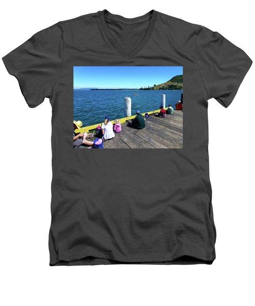 Pilot Bay 1 - Mount Maunganui Tauranga New Zealand Men's V-Neck T-Shirt