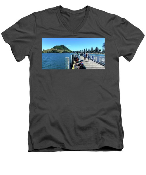 Pilot Bay Beach 8 - Mount Maunganui Tauranga New Zealand Men's V-Neck T-Shirt