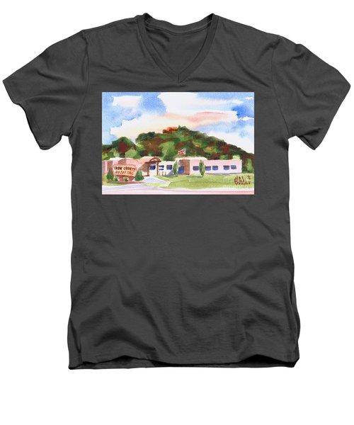 Pilot Knob Mountain W401  Men's V-Neck T-Shirt by Kip DeVore