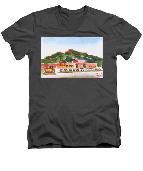 Pilot Knob Mountain W402 Men's V-Neck T-Shirt by Kip DeVore