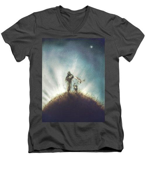 Pilot, Little Prince And Fox Men's V-Neck T-Shirt