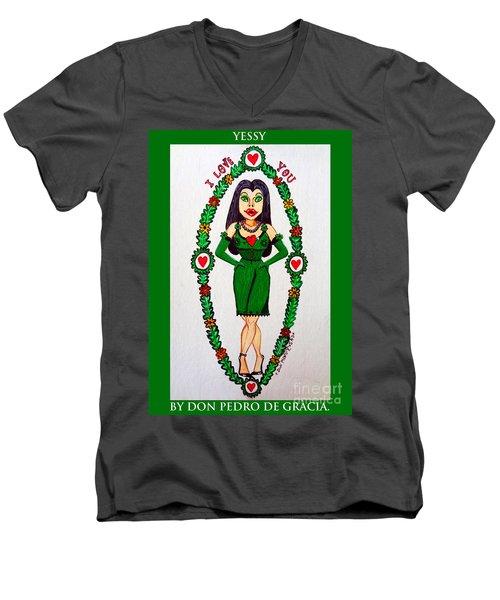 Yessy Men's V-Neck T-Shirt by Don Pedro De Gracia