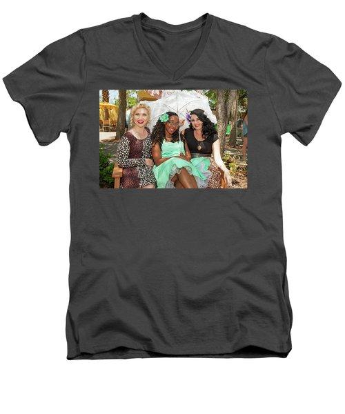 Pin-ups At The Zoo Men's V-Neck T-Shirt