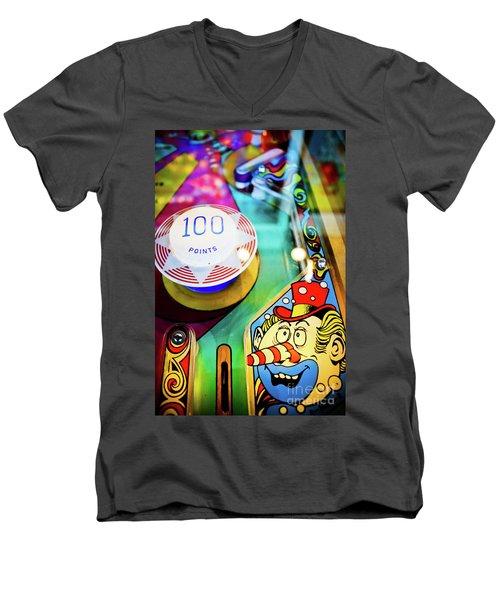 Pinball Art - Clown Men's V-Neck T-Shirt