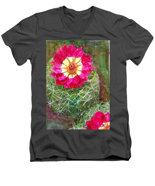 Pincushion Cactus Men's V-Neck T-Shirt by Eric Samuelson