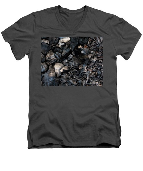 Pine Cone Cinders Men's V-Neck T-Shirt