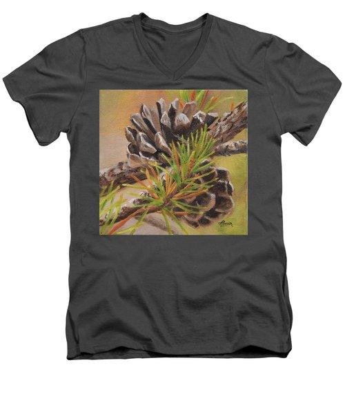 Pine Cones Men's V-Neck T-Shirt