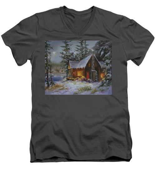 Pine Cove Cabin Men's V-Neck T-Shirt