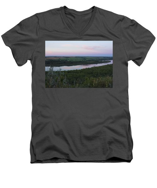 Pine Island Men's V-Neck T-Shirt by Ellery Russell
