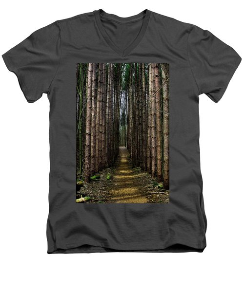 Pine Path  Men's V-Neck T-Shirt
