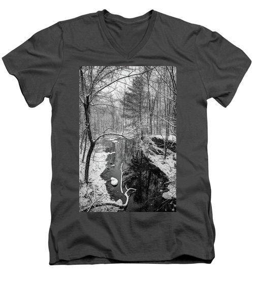 Pine Reflection On The Sheepscot Men's V-Neck T-Shirt