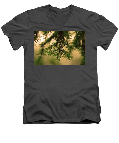 Men's V-Neck T-Shirt featuring the photograph Pine by Robert Geary