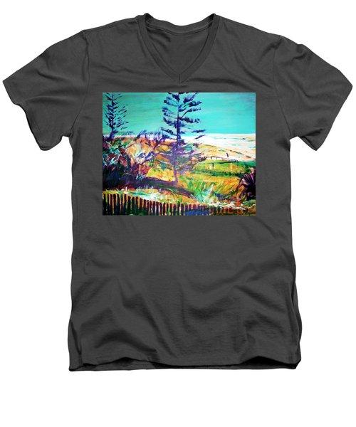 Pine Tree Pandanus Men's V-Neck T-Shirt
