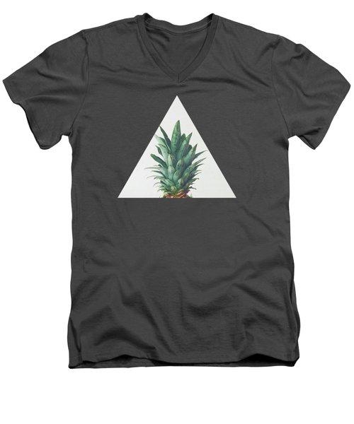 Pineapple Top Men's V-Neck T-Shirt
