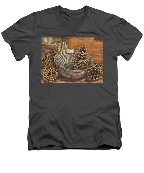 Pinecones Men's V-Neck T-Shirt