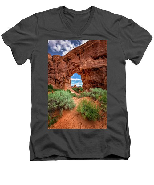 Pinetree Arch Men's V-Neck T-Shirt