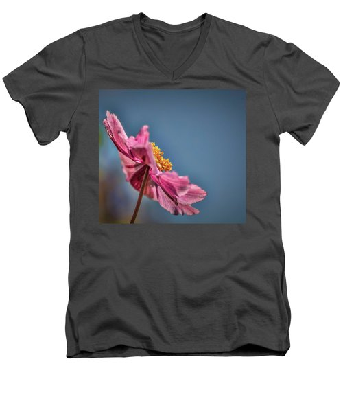 Pink And Yellow Profile #h8 Men's V-Neck T-Shirt