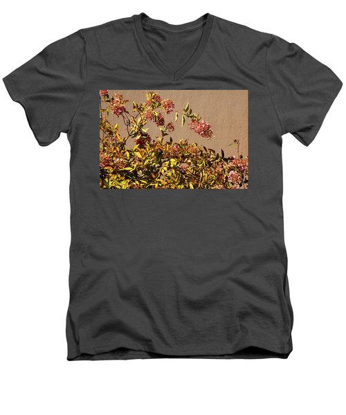 Pink Autumn Men's V-Neck T-Shirt