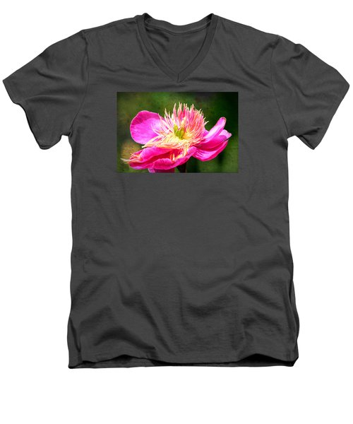 Pink Beauty Men's V-Neck T-Shirt by Bonnie Bruno