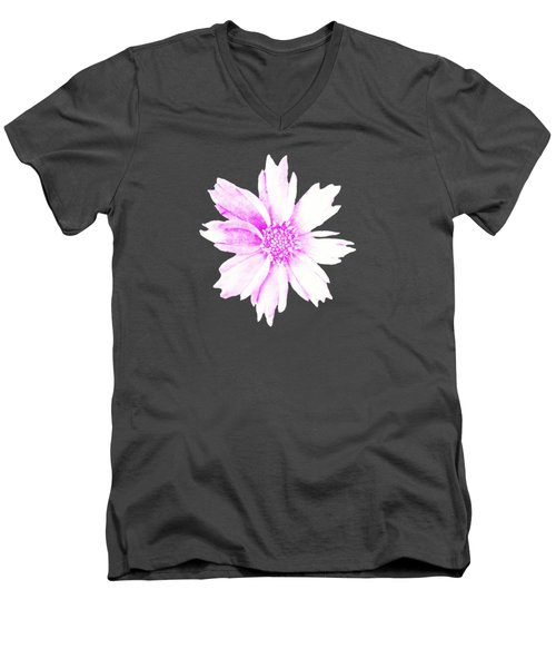 Pink Bloom Men's V-Neck T-Shirt