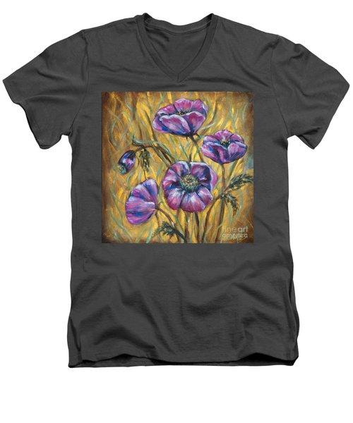 Pink Blooms Men's V-Neck T-Shirt