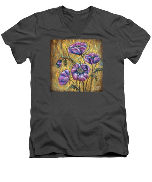 Pink Blooms Men's V-Neck T-Shirt