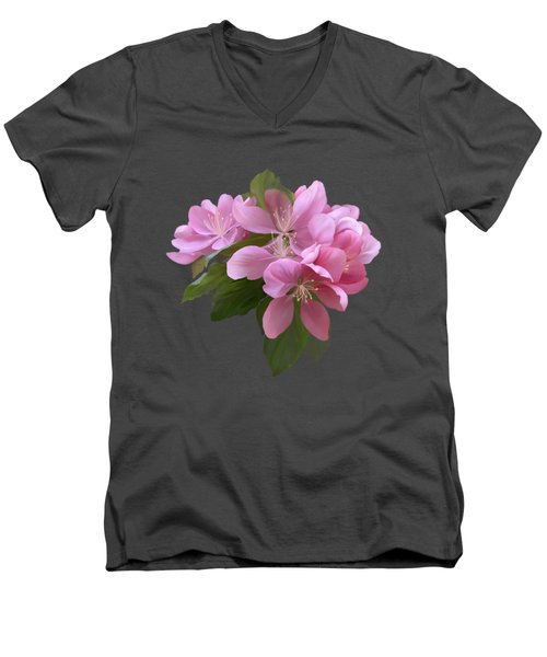 Pink Blossoms Men's V-Neck T-Shirt by Ivana Westin