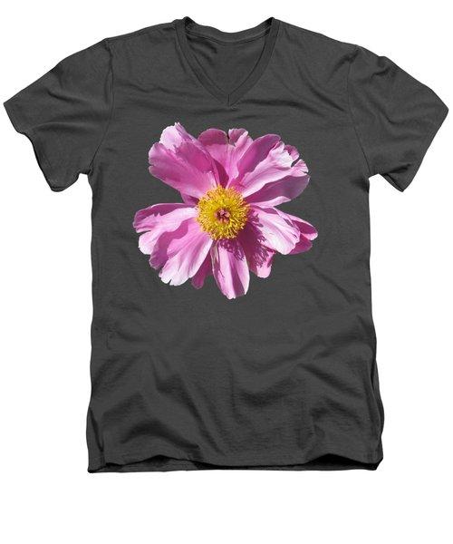 Pink Burst Men's V-Neck T-Shirt