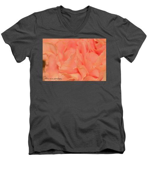 Pink Carnations Men's V-Neck T-Shirt by Nance Larson