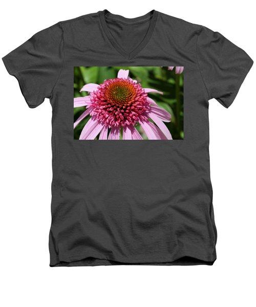 Pink Coneflower Close-up Men's V-Neck T-Shirt