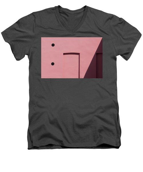 Pink Emoji Men's V-Neck T-Shirt