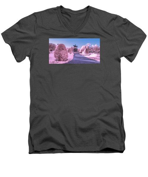 Pink Garden Men's V-Neck T-Shirt