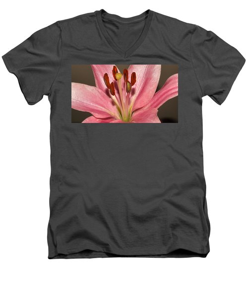 Pink Lily Men's V-Neck T-Shirt
