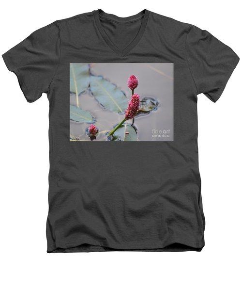 Pink Lily Pad Men's V-Neck T-Shirt