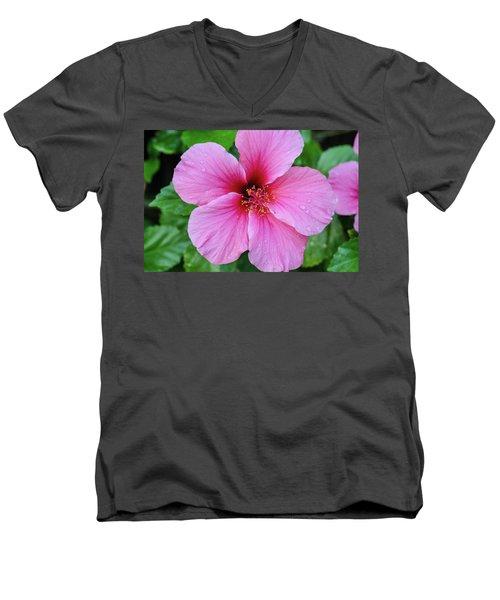 Pink Lugonia Men's V-Neck T-Shirt