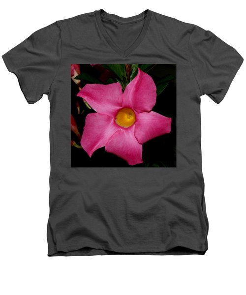 Pink Mandevilla Men's V-Neck T-Shirt