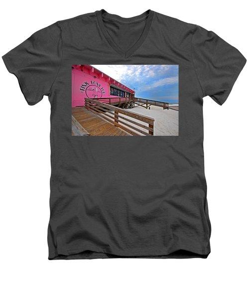 Pink Pony Men's V-Neck T-Shirt