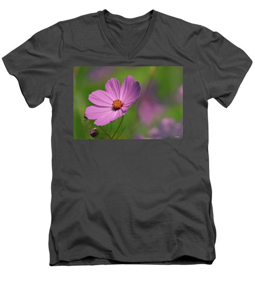 Pink Profile Men's V-Neck T-Shirt