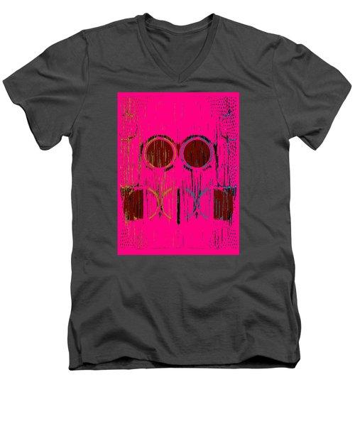 Pink Rings Men's V-Neck T-Shirt