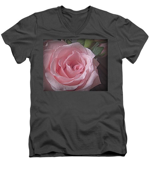Pink Rose Bliss Men's V-Neck T-Shirt