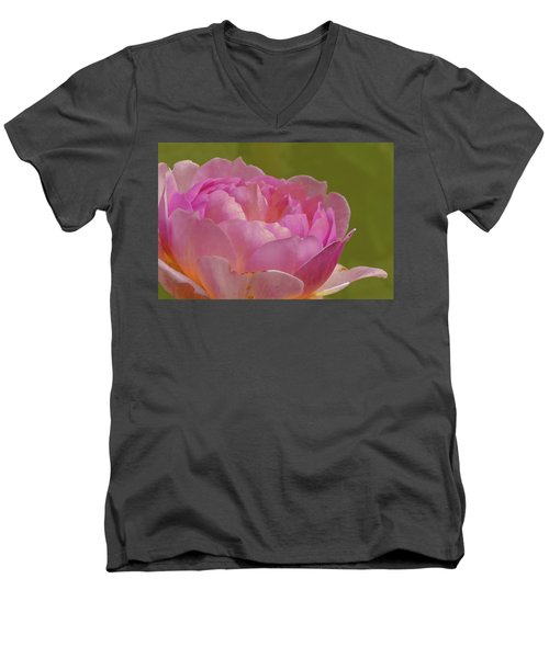 Pink Rose #d3 Men's V-Neck T-Shirt