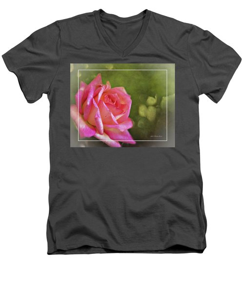 Pink Rose Dream Digital Art 3 Men's V-Neck T-Shirt