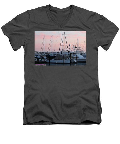 Pink Skies Men's V-Neck T-Shirt by Nance Larson