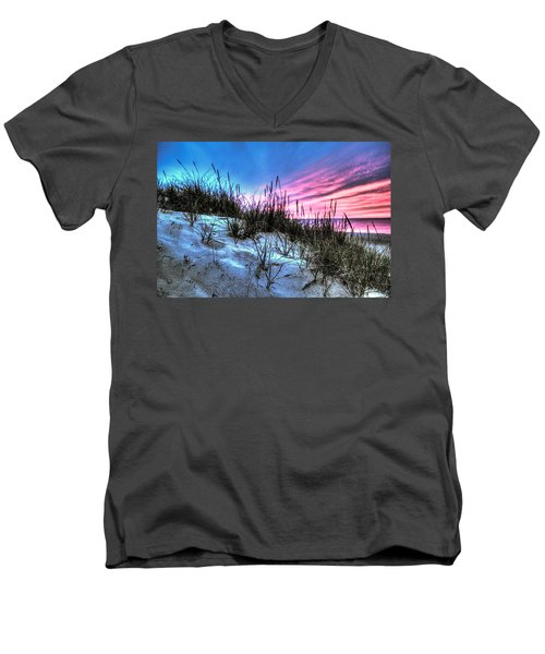 Pink Sky At Night Men's V-Neck T-Shirt