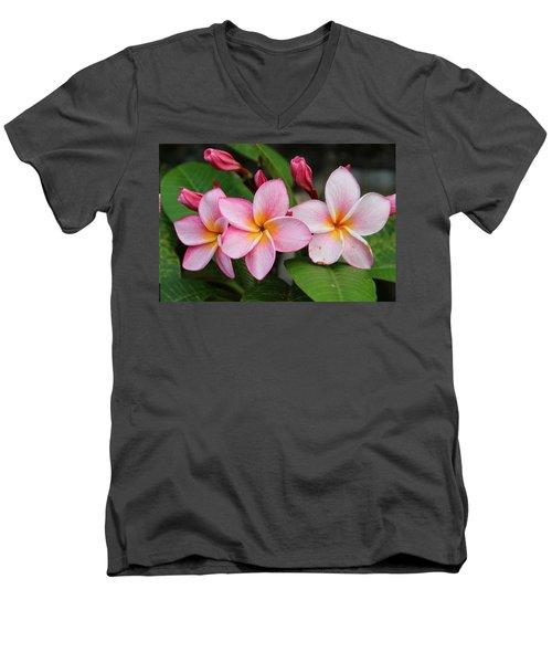 Pink Trio Men's V-Neck T-Shirt