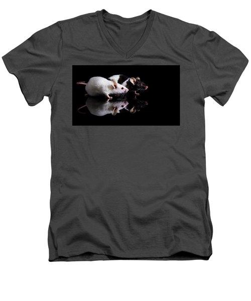 Pinky And Dot Men's V-Neck T-Shirt